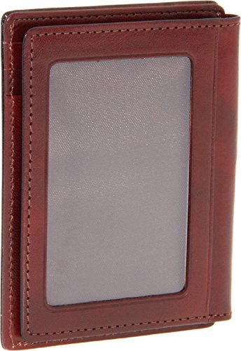Bosca Men's Old Leather Collection - Front Pocket Wallet Cognac Leather One Size