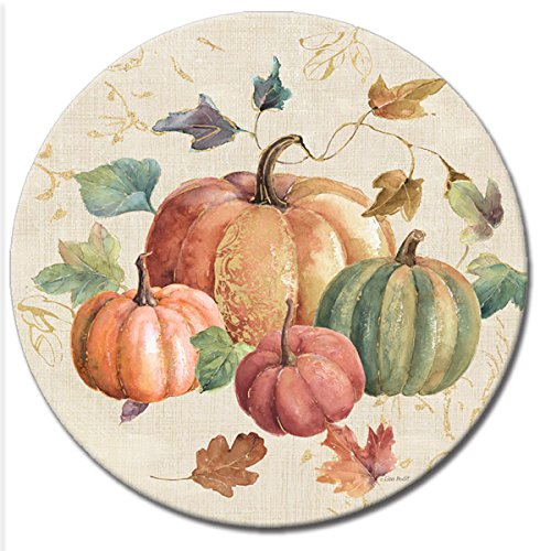CounterArt 'Harvest Moments' Lazy Susan Glass Serving Plate, 13