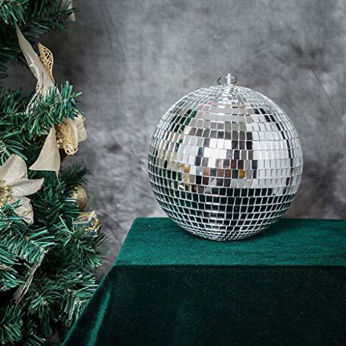 BalsaCircle 4 pcs 8-Inch Silver Glass Hanging Party Disco Mirror Balls Wedding Birthday Home Decorations Christmas Ornaments
