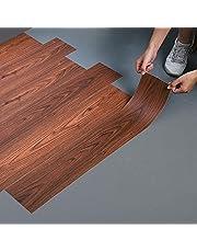 LC&TEAM 90x15 cm vinylvloer houtlook vloerbedekking zelfklevend vloerbedekking dikte 0,50 mm decoratiefolie eiken plakfolie 20 stuks laminaat planken ca. 2,7 m² (houtkleur E)