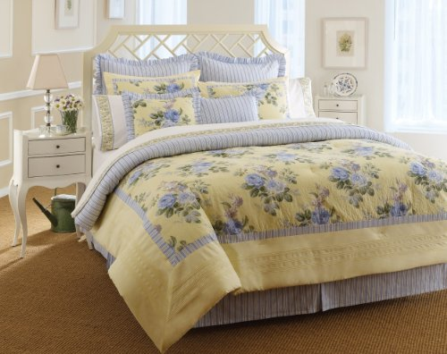 Laura Ashley, Caroline Collection, Bed in a Bag, Twin - Country Bedding Sets Twin