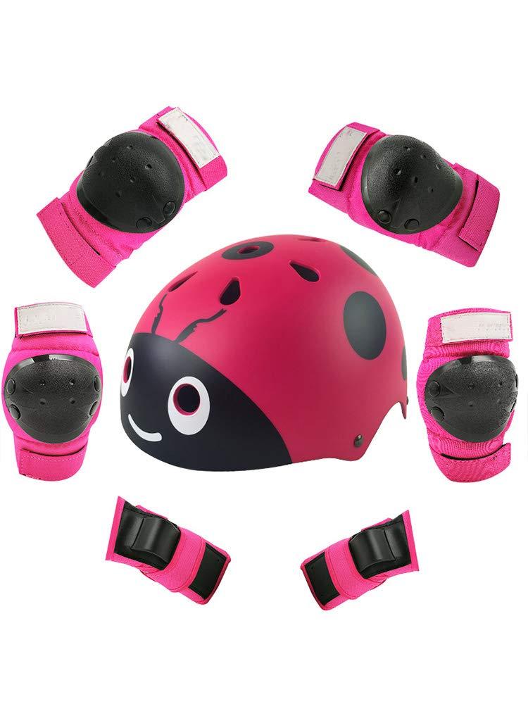 Box Czz Rollschuhlaufen Schutzausrüstung, Kinder Helm Gesetzt, Männer Und Frauen Roller Skates Skateboarding Fahrrad, Sicherheit Hut Knieschützer,B,S