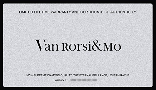 Moissanite DF Colorless Simulated Diamond Loose Stone by Van Rorsi&Mo, Round Brilliant Cut Excellent Cut VVS Clarity by Swhitee (Image #5)
