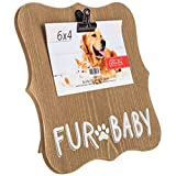 Mission Gallery Darling Fur Baby Puppy Dog Pet Picture Frame Holds 6'' x 4'' Picture ~ Wood ~ Tabletop