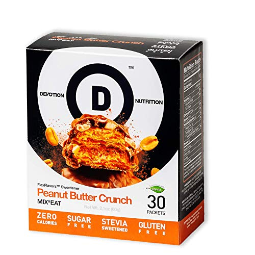 Devotion Nutrition Flex Flavors Stevia Instant Flavoring, Peanut Butter Crunch, Zero Calories, Sugar Free, Gluten Free, Stevia Sweetened, 30 Count (Candy Crush Wrapped Candy Best Level)