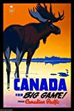 vintage advertisement - A SLICE IN TIME Big Game Moose Pacific Vintage Canada Canadian Travel Advertisement Poster