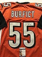 Autographed/Signed Vontaze Burfict Cincinnati Bengals Orange Football Jersey JSA COA