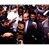 Rollie Massimino and Ed Pinckney 1985 Villanova Wildcats - Celebrating After the Game - 8x10 Autographed Photograph with Inscriptions