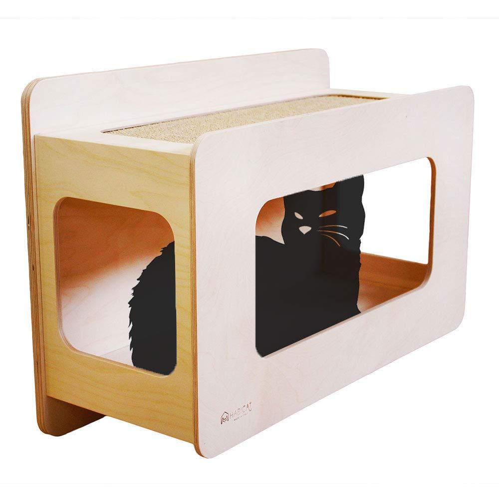 sport dello shopping online HabiCat  RIFUGIO da 60 cm. per Parete Parete Parete attrezzata per Gatti, Cuccia Ripiano da Muro, Graffiatoio Tiragraffi - in Legno e Sisal  Prezzo al piano