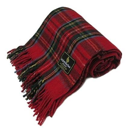 Ingles Buchan Scottish Wool Tartan Blanket//Throw 69x62 Inch
