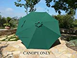 Formosa Covers Replacement Umbrella Canopy in Taupe, Hunter Green or Terracotta in 2 Sizes (11 Foot 8 Ribs or 10 Foot 8 Ribs, Canopy ONLY)
