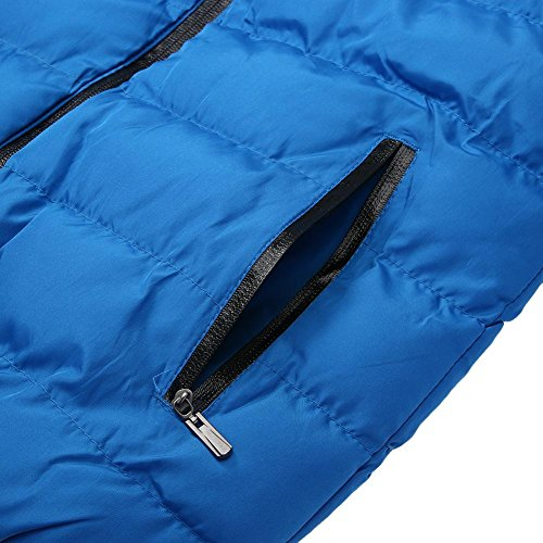 Winter Down Casual Men Cotton Padded Warm Parka Jacket BlueM Outerwear Jacket Coat 1nWBU
