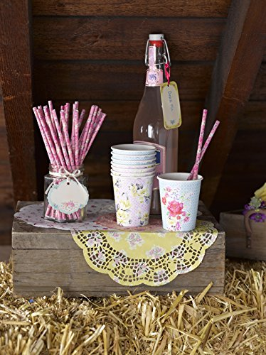 Talking Tables Tea Party Vintage Floral Paper Cups | Truly Scrumptious | Also Great For Birthday Party, Baby Shower…