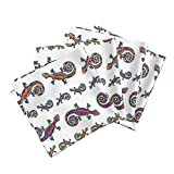 Roostery Salamander Linen Cotton Dinner Napkins Lizard Gecko Colorful Large On White by Paysmage Set of 4 Cotton Dinner Napkins Made