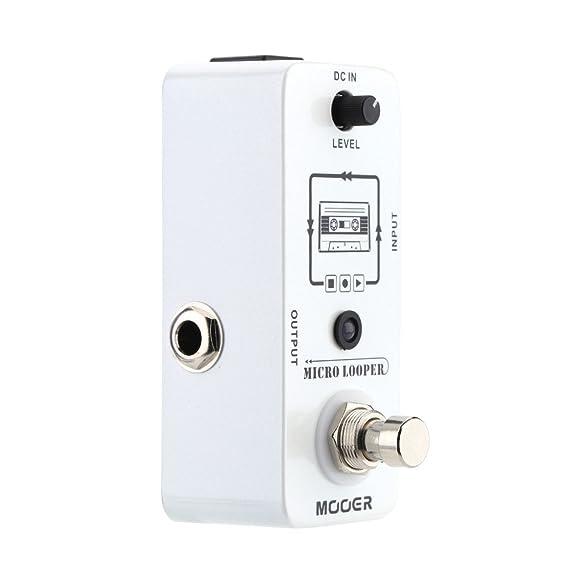 Muslady mooer Looper Micro Mini Loop Grabar Pedal de Efecto para Guitarra Eléctrica True Bypass: Amazon.es: Instrumentos musicales