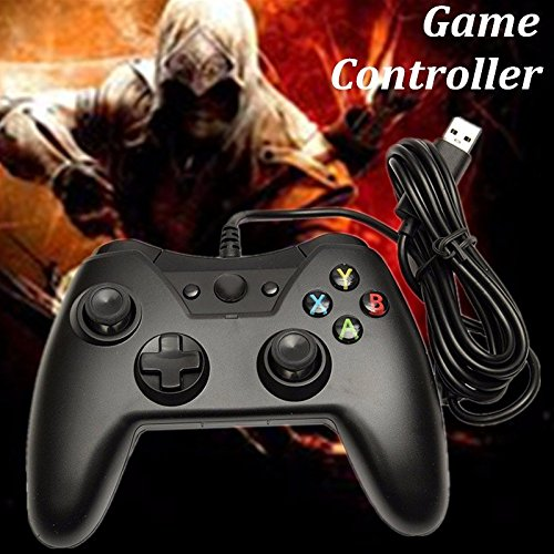 Pink Lizard Wire USB Port Game Joystick Controller Black For Laptop PC Games Xbox One