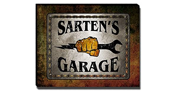 Amazon.com: ZuWEE Sartens Garage Family Name Gallery Wrapped Canvas Print: Posters & Prints