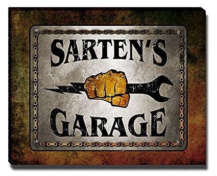 Amazon.com: ZuWEE Sartens Garage Family Name Gallery ...