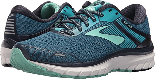 (Brooks Women's Adrenaline GTS 18 Navy/Teal/Mint 7 B)
