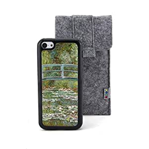 CaseCityLiu - The Water Lily Pond: Green Harmony Claude Monet Oil Painting Design Black Bumper Plastic+TPU Case Cover for Apple iPhone 5C Come With FREE Non Woven Packing Bag wangjiang maoyi