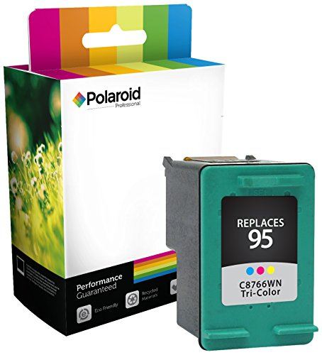 Polaroid Professional H-66WN-PRO Remanufactured Inkjet Cartridge Replacement for HP95 (C8766WN), Tri-Color Ink (Epson Replacement Cartridge Polaroid Ink)