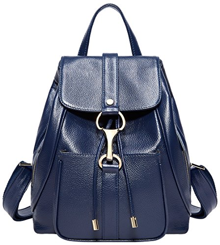 Real Purse Ladies Black for Blue Bag Fashion BOYATU Travel Royal Women Backpacks Leather Shoulder d6YgTqt