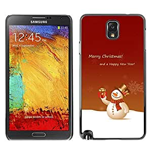 YOYO Slim PC / Aluminium Case Cover Armor Shell Portection //Christmas Holiday Merry Snow Man 1269 //Samsung Note 3