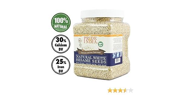 El orgullo de la India - Blanco semillas de sésamo sin pelar - El ...