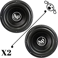 2 NEW Audiopipe TXXBD412 12 4 Ohm 4400W MAX Dual 2200W RMS CAR SUBWOOFERS PAIR