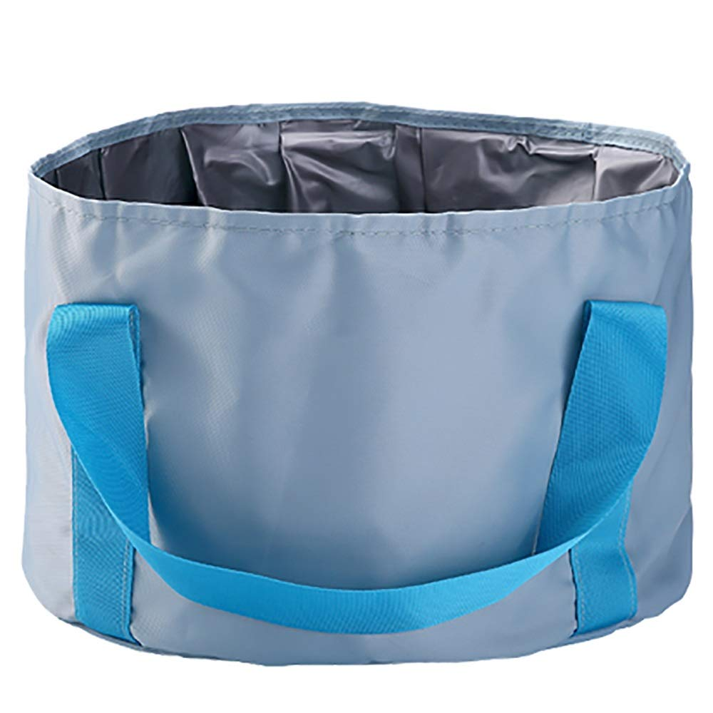 Qi Peng Outdoor Portable Collapsible Washbasin Travel Bubble Bag Laundry Basin Outdoor Wash Basin Wash Basin Wash Basin -# (Color : Blue)