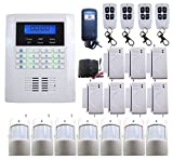 Tools & Hardware : DBPOWER Ja-10bgsm 101 Zones Wireless GSM Home Security Alarm Burglar System for Fire, Gas Leak, Door Lock, Living Room, Window, Balcony,and Perimeter Burglar with Auto Dial