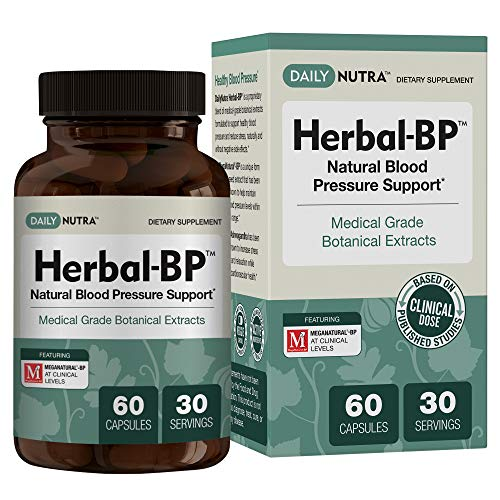 Herbal-BP Natural Blood Pressure Support with Stress Management - Medical Grade Botanical Extracts - Safe, Long-Term Support