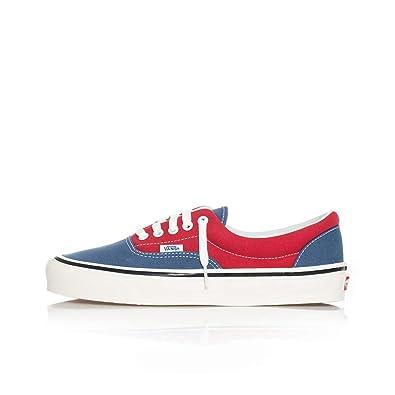 scarpe vans bianche e blu