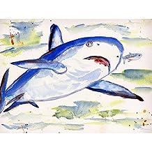 Betsy Drake DM213G Sharks Doormat 30 x 50
