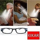 KIKAR LED Reading Glasses (Strength +2.5) with Case
