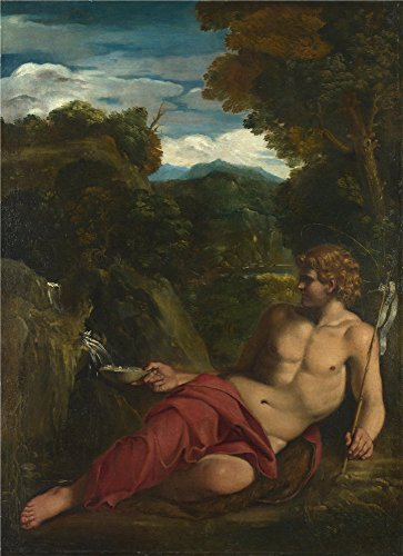 Saint John The Baptist Costume (The High Quality Polyster Canvas Of Oil Painting 'Circle Of Annibale Carracci Saint John The Baptist Seated In The Wilderness ' ,size: 20 X 28 Inch / 51 X 70 Cm ,this Best Price Art Decorative Prints On Canvas Is Fit For Dining Room Artwork And Home Decoration And Gifts)