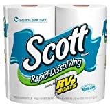 Health & Personal Care : Scott Rapid Dissolve Bath Tissue, 4-Rolls (Pack of 2)
