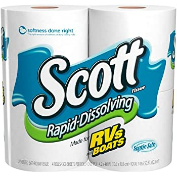 Amazon Com Scott Rapid Dissolving Bathroom Tissue 1 Ply