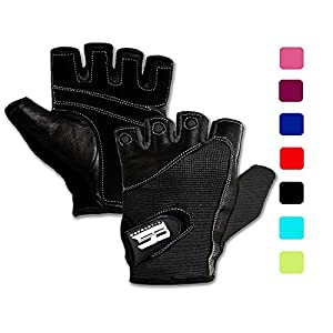 RIMSports Premium Leather Workout Gloves for Women & Men – Padded Weight Lifting Gloves with Anti-Slip Design – Gym…