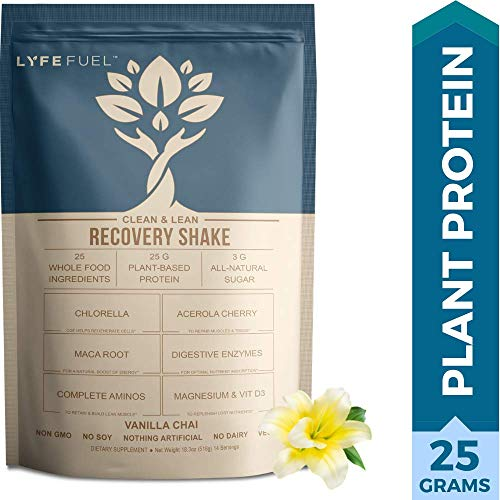 Post Workout Recovery Drink by LYFE FUEL – Build Lean Muscle & Reduce Soreness – Plant Based Vegan Superfood Powder – Organic Pea, Rice & Quinoa Protein, Maca, Acerola & BCAAs (Vanilla – 1 pound) Review