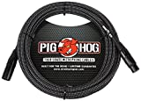 Pig Hog PHM20BKW High Performance Black and White Woven XLR Microphone Cable, 20 feet