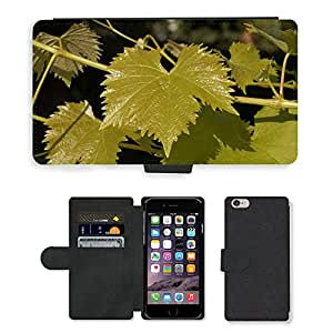 """Hot Style Cell Phone Card Slot PU Leather Wallet Case // M00150940 Leaves Greens Leafy Vines Plants // Apple iPhone 6 PLUS 5.5"""""""