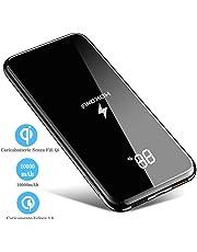 Caricabatterie Senza Fili Qi,Caricabatteria portatile 10000 mAh Batteria esterna Dual USB per Galaxy S9/S8/iPhone XR/XS/X/8/8Plus e per tutti I dispositivi compatibili Qi e altri dispositivi Micro USB