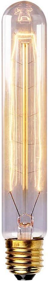 Ampoules vintage Edison r/étro /à filament en spirale /à intensit/é variable 220-240 V T130 E27 60 W Blanc chaud