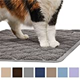 Gorilla Grip Original Premium Durable Cat Litter Mat (35x23), XL Jumbo, No Phthalate, Water Resistant, Traps Litter from Box and Cats, Scatter Control, Soft on Kitty Paws, Easy Clean Cat Mat (Gray)