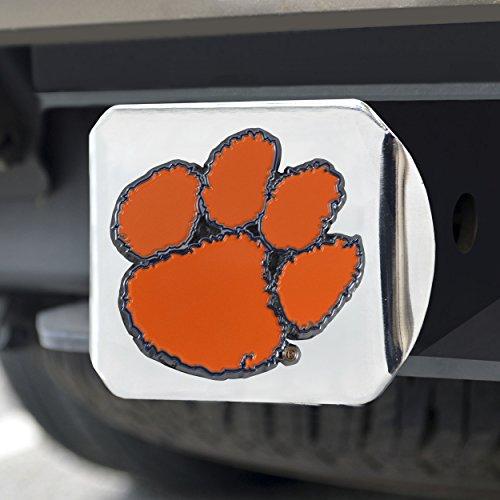 (FANMATS NCAA Clemson Tigers Clemson Universitycolor Hitch - Chrome, Team Color, One Size )