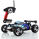 Metakoo MK-H1802 RC Auto Off Road Schnelle Geschwindigkeit 45 km / h Maßstab 1:18 100M Fernbedienung 10 Minuten Spielzeiten 4WD schnelles Fahrzeug 2,4 GHz Elektro Buggy Car- Blau