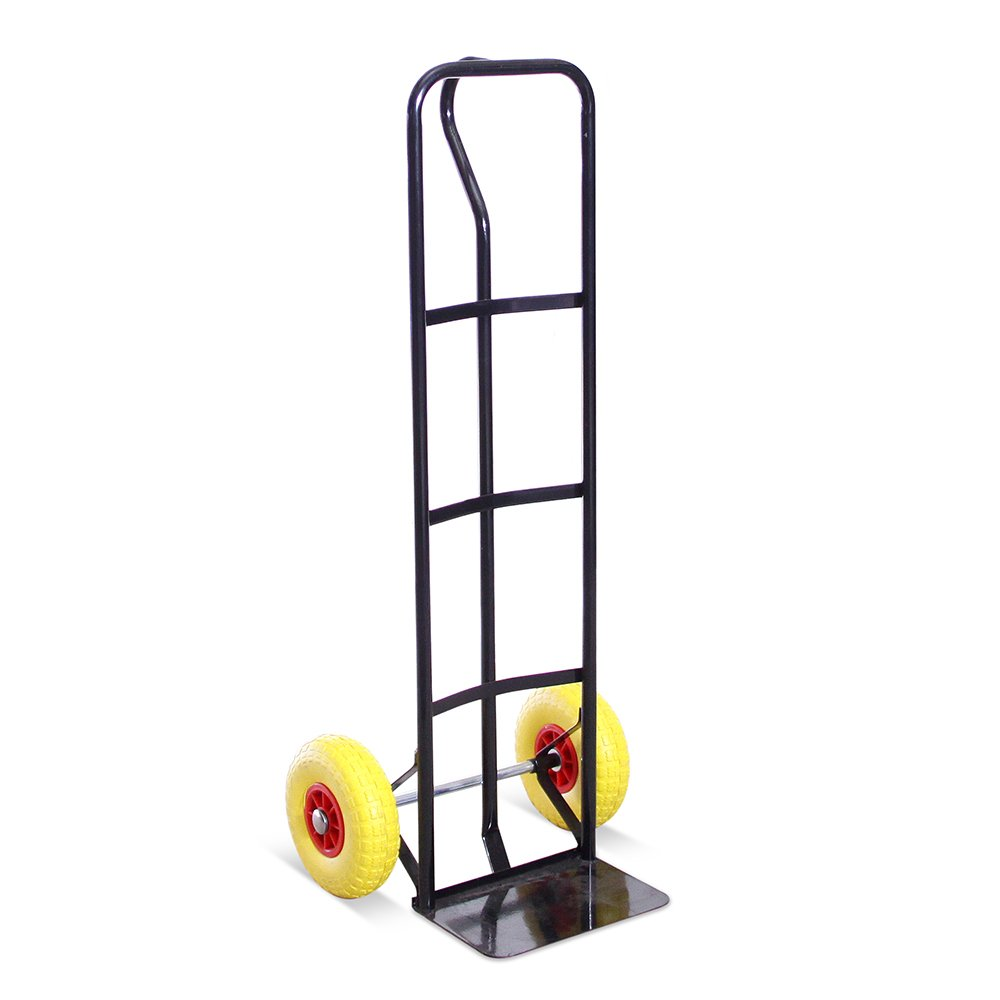 High Back P-Handle Industrial Steel Sack Truck - 5 Year Warranty Red with Anti Puncture Tyres and 325kg Load Capacity