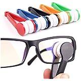 Onwon 5 Pcs Mini Sun Glasses Eyeglass Microfiber Spectacles Cleaner Soft Brush Cleaning Tool Mini Microfiber Glasses Eyeglasses Cleaner Cleaning Clip (Random Color)