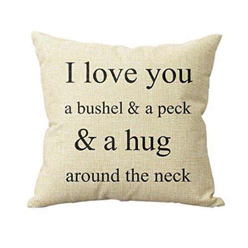 Lisingtool Sofa Bed Home Decor Pillow Case Cushion Cover